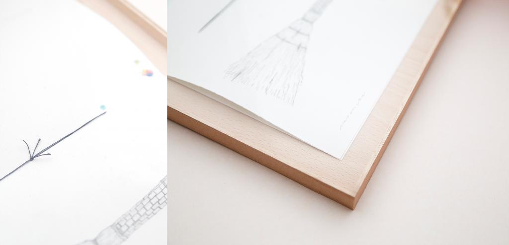 Detalle de los bocetos de la exposición en Do Design.